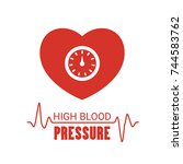 high blood pressure icon.... | Shutterstock .eps vector #744583762