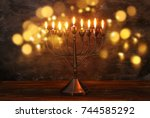 image of jewish holiday... | Shutterstock . vector #744585292