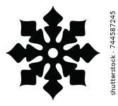 ossetian ornament. ornamental... | Shutterstock .eps vector #744587245