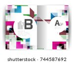 geometric a4 annual report... | Shutterstock .eps vector #744587692