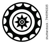 ossetian ornament. ornamental... | Shutterstock .eps vector #744590335