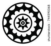 ossetian ornament. ornamental... | Shutterstock .eps vector #744590368