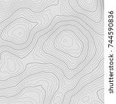 topographic map background... | Shutterstock .eps vector #744590836