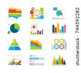 vector modern elements for...   Shutterstock .eps vector #744592282
