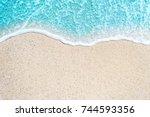 Sea Beach And Soft Wave Of Blu...
