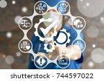 compliancy health care concept. ... | Shutterstock . vector #744597022