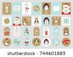 vector cartoon style set of... | Shutterstock .eps vector #744601885