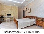 interior children's room... | Shutterstock . vector #744604486