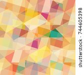 abstract colorful pattern for... | Shutterstock . vector #744605398