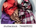 front loading washing machine... | Shutterstock . vector #744609352