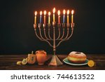 image of jewish holiday... | Shutterstock . vector #744613522