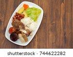 typical portuguese dish cozido...   Shutterstock . vector #744622282