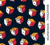 seamless abstract vector... | Shutterstock .eps vector #744624448