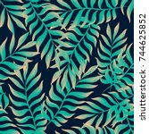 vector seamless pattern with... | Shutterstock .eps vector #744625852