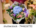 refined and elegant bouquet of... | Shutterstock . vector #744626752