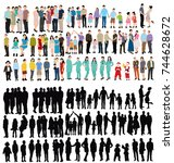 people collection  isometric... | Shutterstock . vector #744628672
