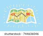 vector cartoon illustration of... | Shutterstock .eps vector #744636046