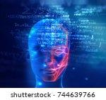 3d illustration of robotic...   Shutterstock . vector #744639766