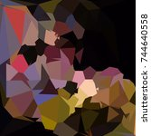 abstract multicolor mosaic... | Shutterstock .eps vector #744640558