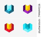 modern abstract design vector... | Shutterstock .eps vector #744644116