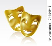 theatrical mask on a white... | Shutterstock .eps vector #74464945