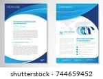 template vector design for... | Shutterstock .eps vector #744659452