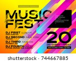 bright autumn electronic music... | Shutterstock .eps vector #744667885