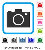 photo camera icon. flat grey...