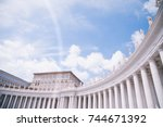 Small photo of Vatican plaza in front of Saint Peters basilica