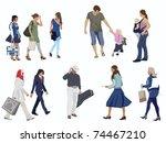 human figures on white | Shutterstock .eps vector #74467210