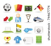 football  soccer and sport... | Shutterstock .eps vector #74467774