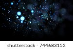 real backlit dust particles... | Shutterstock . vector #744683152