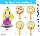 children educational game. kids ... | Shutterstock .eps vector #744683302