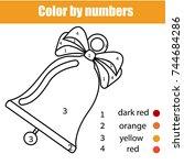 children educational game.... | Shutterstock .eps vector #744684286