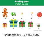 matching children educational... | Shutterstock .eps vector #744684682