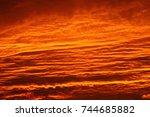 orange sunset | Shutterstock . vector #744685882