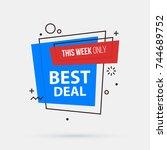 best deal banner template in... | Shutterstock .eps vector #744689752