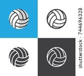 volleyball ball | Shutterstock .eps vector #744696328