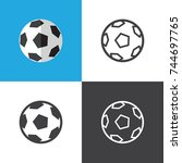 soccer ball | Shutterstock .eps vector #744697765