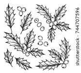 hand drawn vector illustration  ... | Shutterstock .eps vector #744707596
