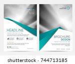 brochure or flyer design... | Shutterstock .eps vector #744713185