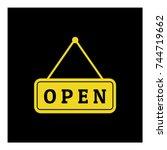 open sign for the door icon... | Shutterstock .eps vector #744719662