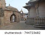 ramtek has got historic temple... | Shutterstock . vector #744723682