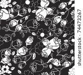 Seamless Rose Pattern In Black...