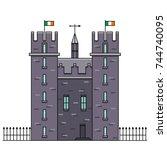 castle vector illustration in... | Shutterstock .eps vector #744740095