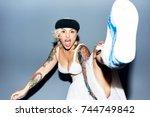 Freaky Blond Girl Wearing White ...