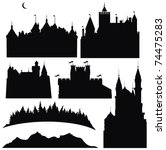 Silhouettes Of  Castles  And...