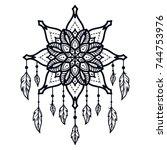 tattoo for shoulder  waist ...   Shutterstock . vector #744753976