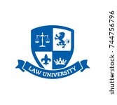 concept for school  university  ... | Shutterstock .eps vector #744756796