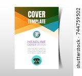 vector illustration of  report... | Shutterstock .eps vector #744759502